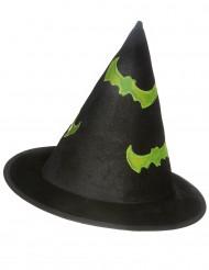Sombrero Halloween bruja reflectante niño