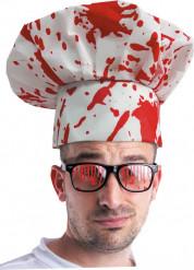 Gorro cocinero ensangrentado adulto Halloween