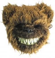 Máscara oso aterrador peludo adulto Halloween