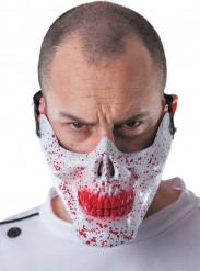 Semi máscara calavera ensangrentada adulto Halloween