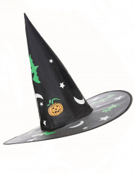 Sombrero Halloween bruja dibujos fluorescentes