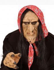 Semi máscara bruja vieja adulto Halloween