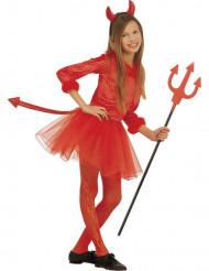 Disfraz Halloween diablesa roja tutú niña