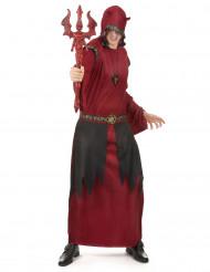 Disfraz Halloween conde satánico rojo hombre