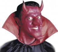 Cuernos diablo rojo con cuello adulto Halloween