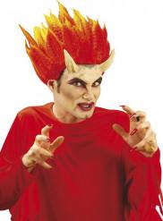 Cuernos demonio con pegamento adulto Halloween