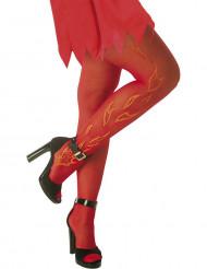 Pantys rojas con llamas adulto Halloween