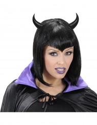 Cuernos negros adulto Halloween