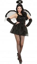 Disfraz ángel negro mujer Halloween