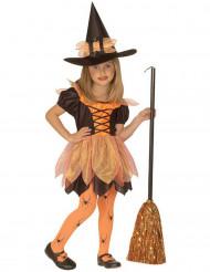 Disfraz pequeña bruja naranja niña Halloween