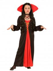 Disfraz de condesa con cuello amplio niña Halloween