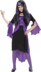 Disfraz Halloween vampira violeta niña