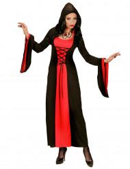 Disfraz condesa roja negra capucha mujer Halloween