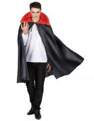 Capa negra cuello rojo Halloween