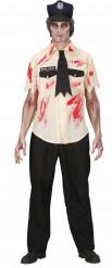 Disfraz Halloween zombie policía hombre