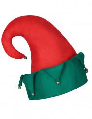 Gorro duende cascabeles Navidad adulto
