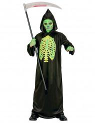 Disfraz segador esqueleto verde niño Halloween
