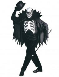 Disfraz esqueleto con capa adulto Halloween