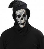 Pasamontañas esqueleto lentejuelas adulto Halloween