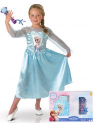 Pack caja disfraz clásico Elsa Frozen™ y micro