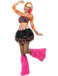 Disfraz rave fluorescente mujer