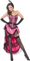 Disfraz bailarina cabaret rosa sexy mujer
