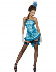 Disfraz bailarina salón sexy azul mujer