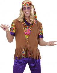 Chaqueta hippie flecos hombre