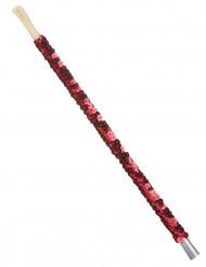 Boquilla lentejuelas roja adulto