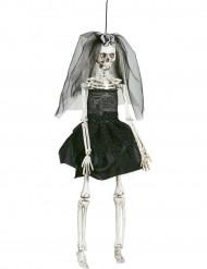 Decoración novia negra 42 cm Halloween