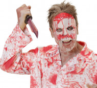 Semi máscara psicópata sangriento adulto Halloween