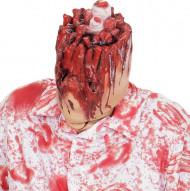 Máscara cabeza arrancada adulto Halloween