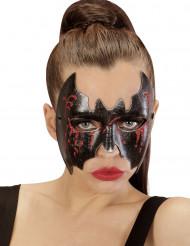 Antifaz murciélago sangriento mujer Halloween