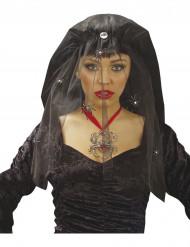 Velo viuda negra con arañas mujer Halloween
