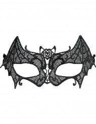 Antifaz puntilla murciélago mujer Halloween