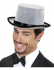Sombrero copa gris adulto
