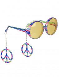 Gafas multicolor hippie adulto
