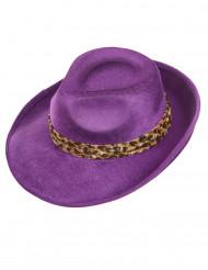 Sombrero pimp violeta adulto
