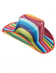Sombrero cowboy multicolor rayas adulto