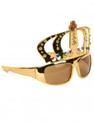 Gafas con corona rey adulto