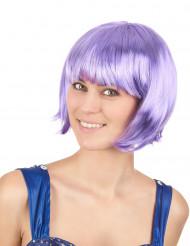 Peluca corta violeta mujer