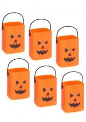 6 cestas calabaza bolsas Halloween