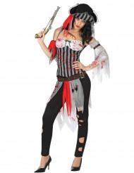 Disfraz pirata sangrienta mujer