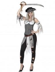 Disfraz pirata zombie mujer
