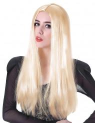 Peluca larga rubia mujer 60 cm