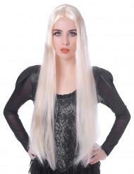 Peluca larga rubia mujer 75 cm