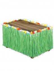 Falda de mesa Hawái verde