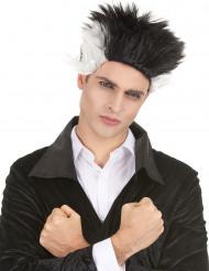 Peluca vampiro negro blanco hombre