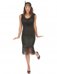 Disfraz vestido charlestón negro mujer