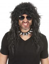 Peluca heavy rock hombre